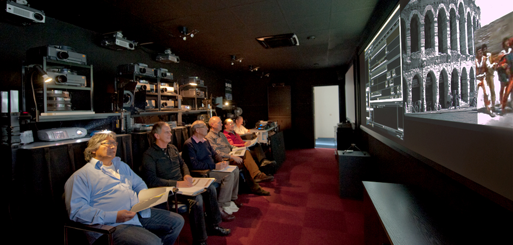 Cursisten in de HDAV studio van AV Stumpfl NL
